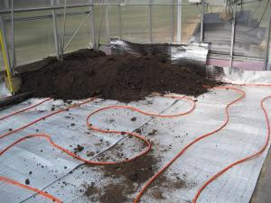 Radiant heating under soil