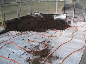 Radiant heating under soil