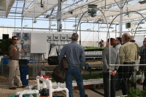 Sam displaying hydroponic control panel