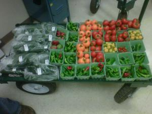 Fresh produce from the greenhouse.