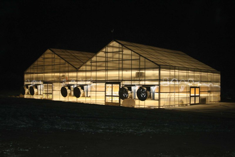 Greenhouse with HPS lights