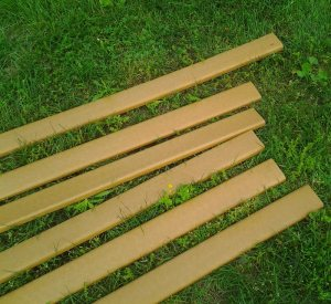Recycled plastic lumber