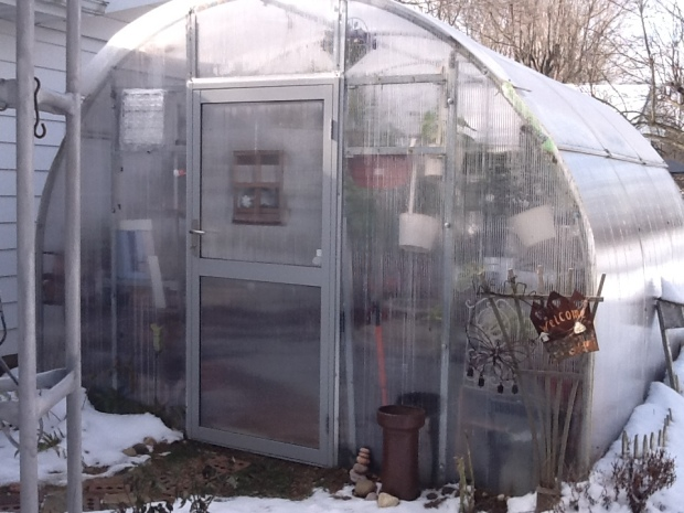 Small hobby greenhouse