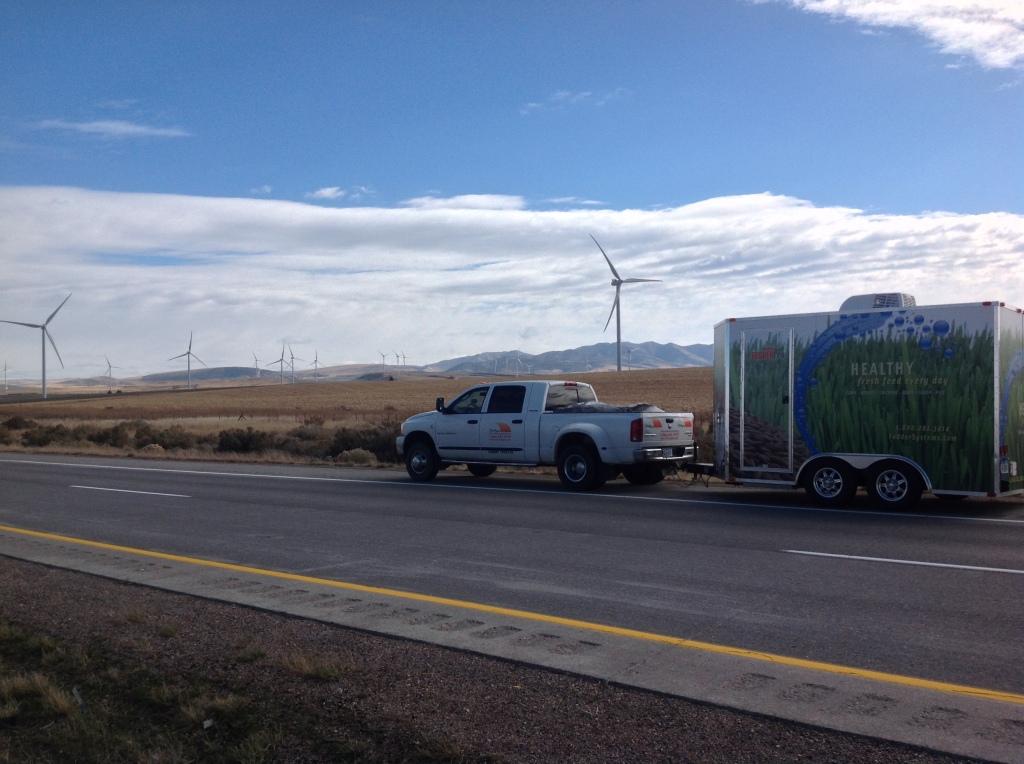 FarmTek's Fodder Trailer Goes West