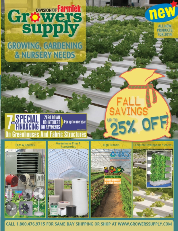 Growers Supply Fall Catalog