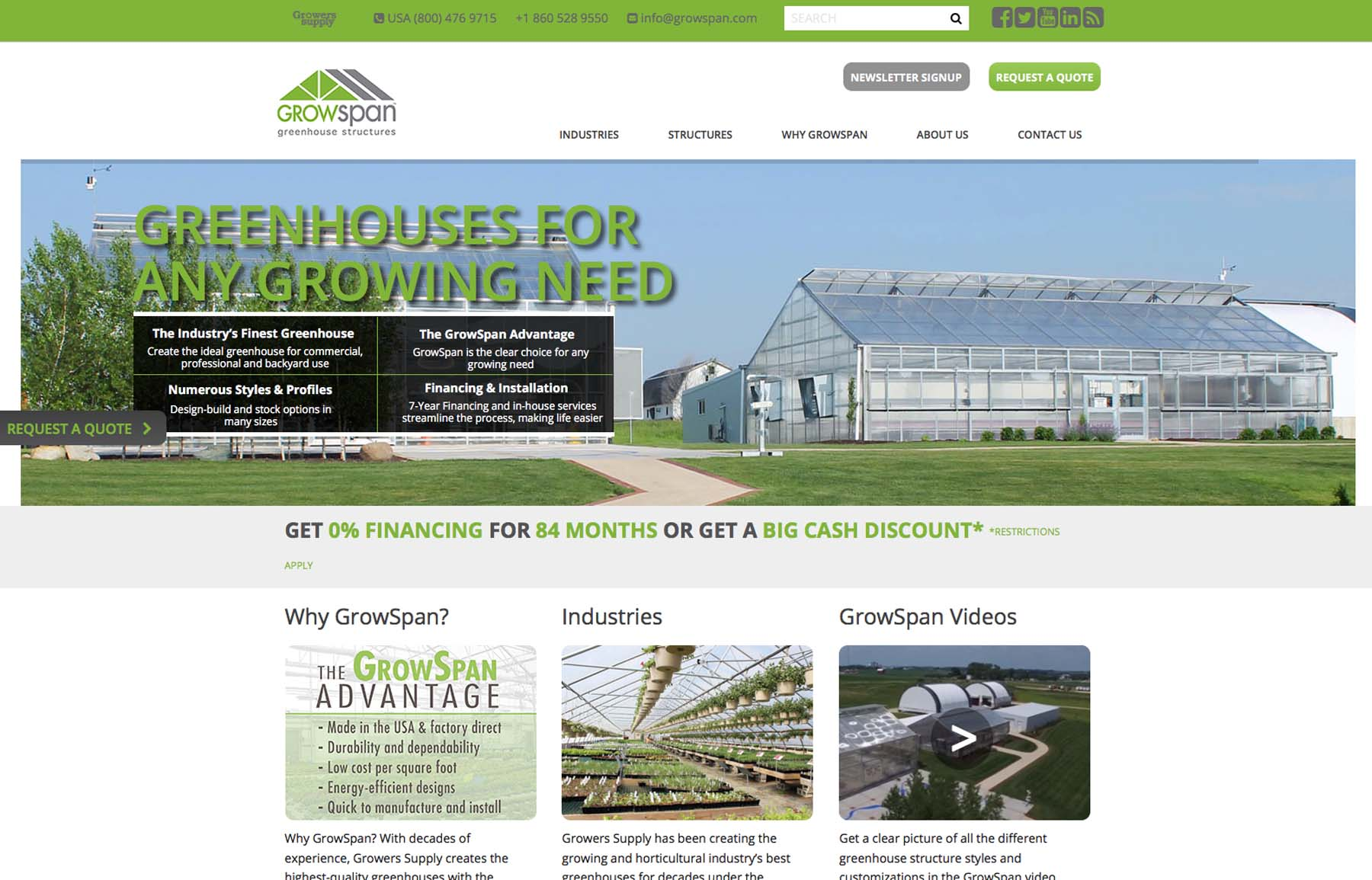Introducing Our New GrowSpan Greenhouse Structures Website